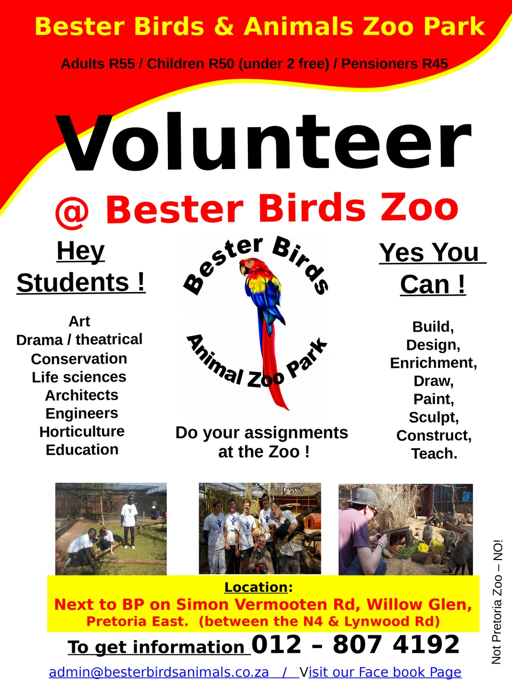 Bester Birds Volunteers 2017